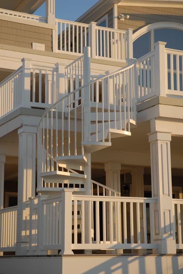 Aluminum Deck Spiral Staircase Deck Fence