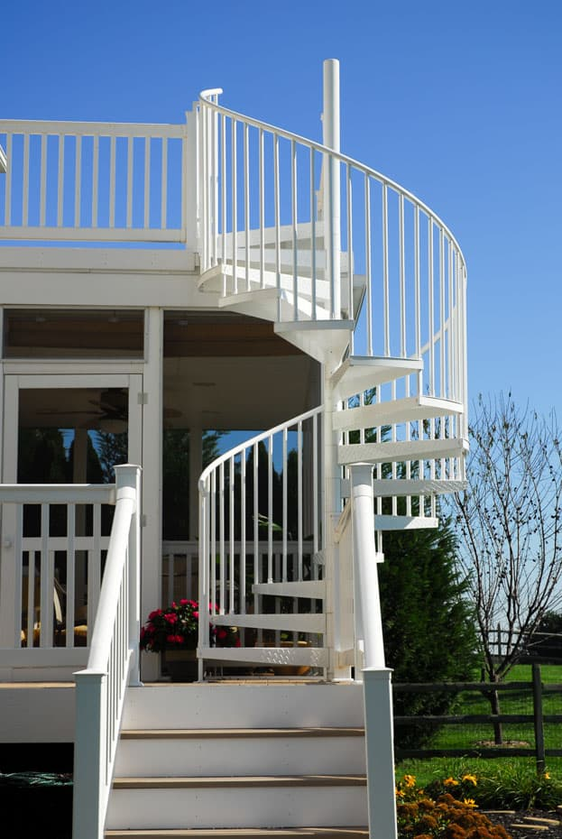 Aluminum Deck Spiral Staircase Beautiful Outside Stair