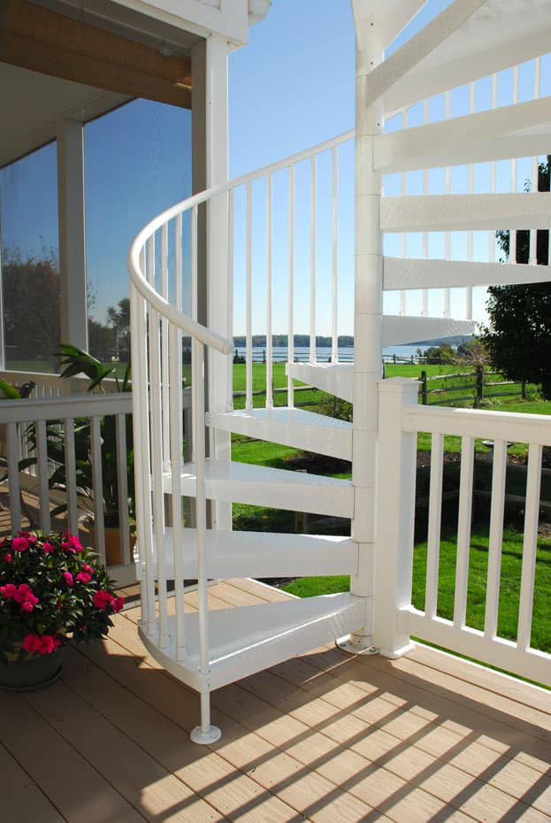 Aluminum Deck Spiral Staircase Treads Sleeves