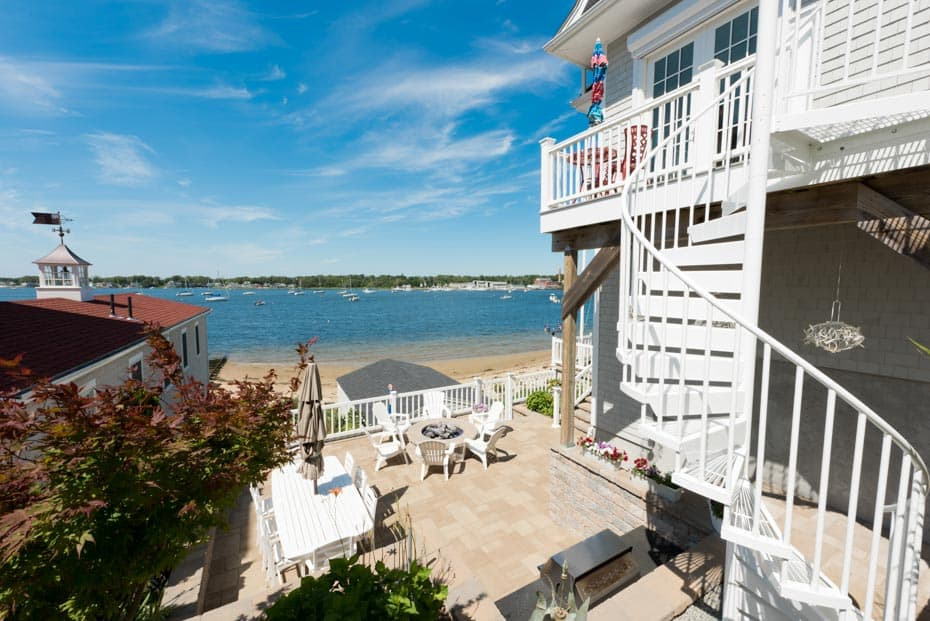 Aluminum Deck Spiral Staircase Lakeside Stair