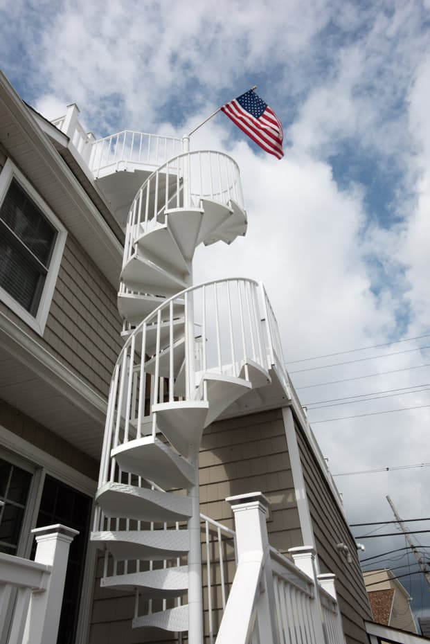Double Stack Spiral Staircase at a beach house