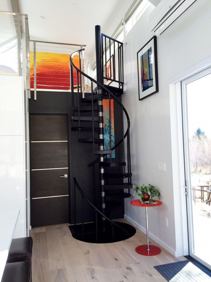 Double Stack Spiral Staircase modern interior