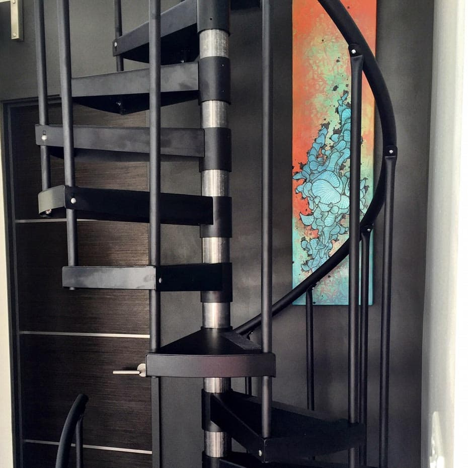 Double Stack Spiral Staircase with adjustable sleeves