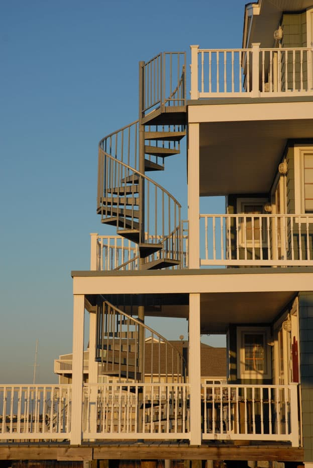 Double Stack Spiral Staircase with coastal style