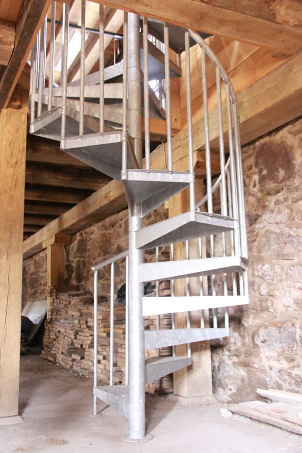 Double Stack Spiral Staircase enclosed tread ends