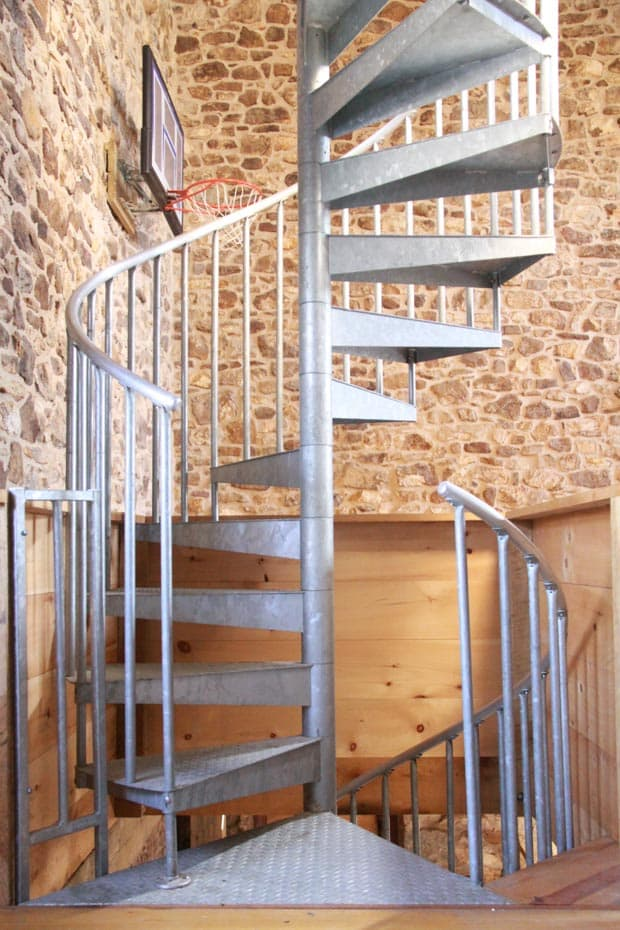 Double Stack Spiral Staircase with continuous sleeves
