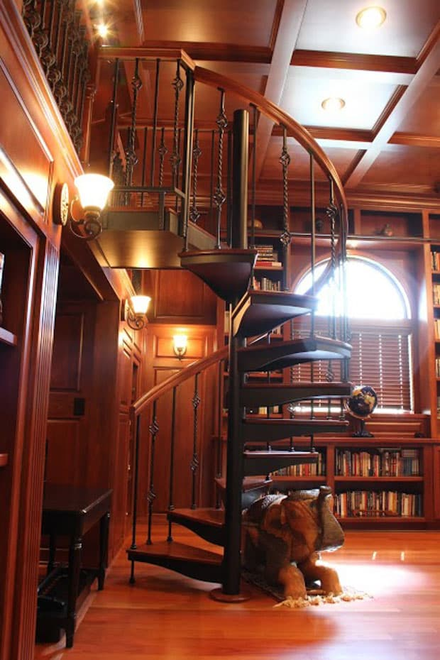 Forged Iron Spiral Staircase traditional victorian style