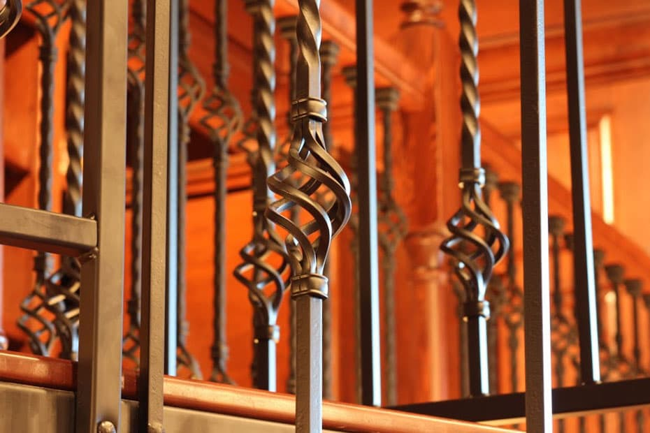 Forged Iron Spiral Staircase twisted baluster profile