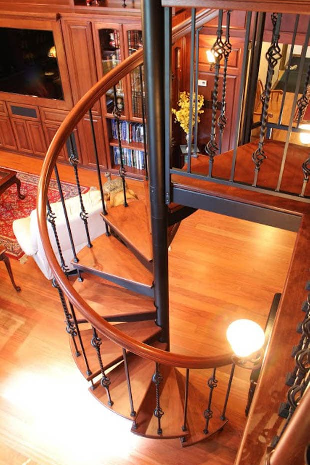 Forged Iron Spiral Staircase winding rotation