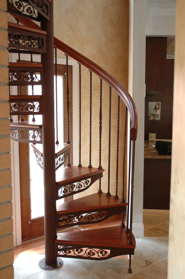 Forged Iron Spiral Staircase 4ft diameter