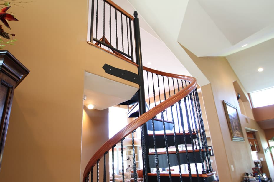 Forged Iron Spiral Staircase handrail profile