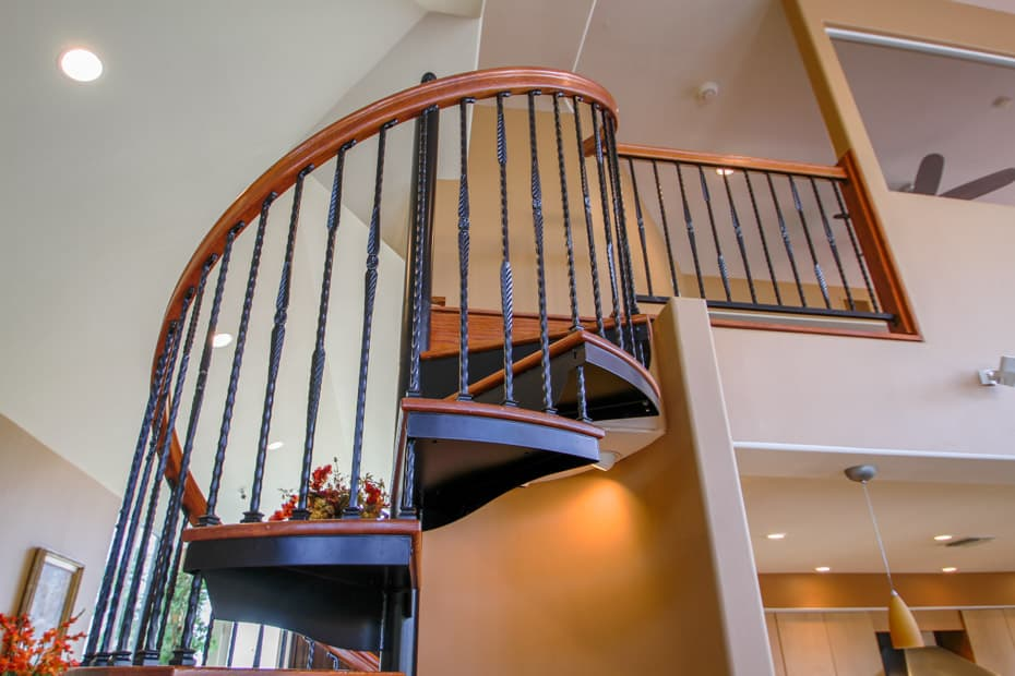 Forged Iron Spiral Staircase platform attachment