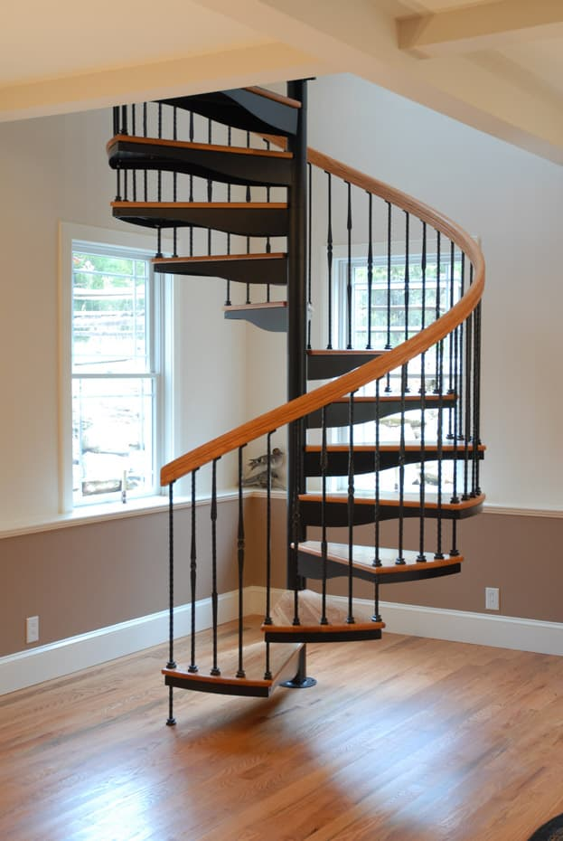 Forged Iron Spiral Staircase traditionally elegant