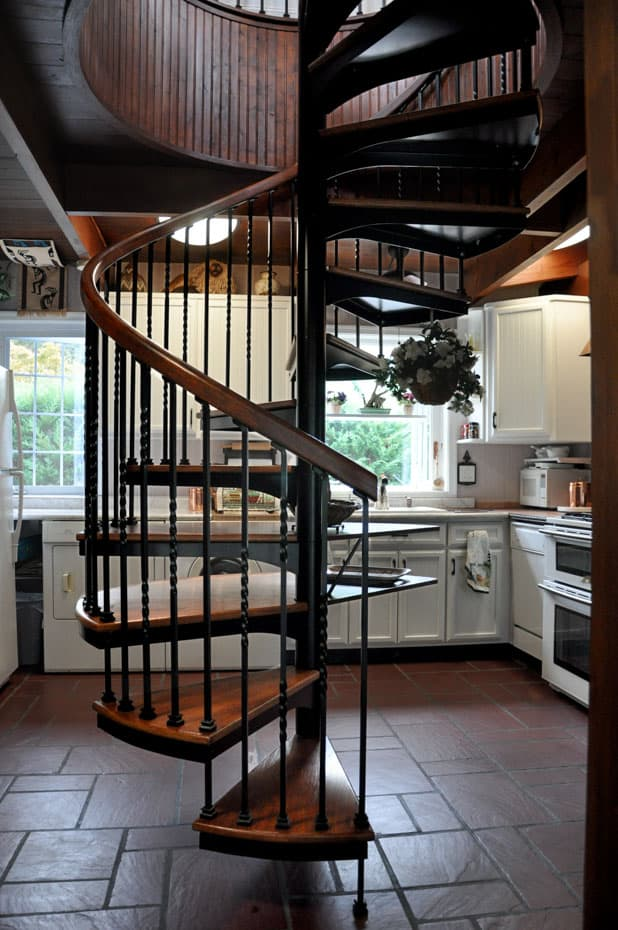 Forged Iron Spiral Staircase code compliant