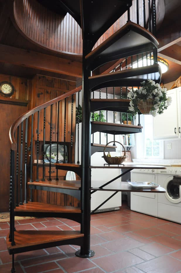 Forged Iron Spiral Staircase with custom add ons