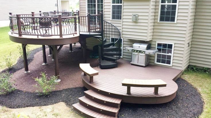 Zoning Backyard Deck Ideas