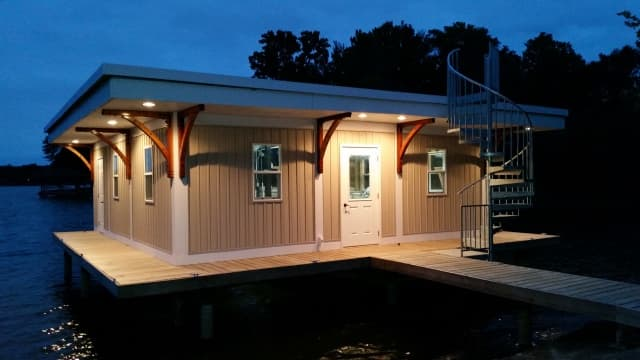 23 Boat House Design Ideas - Salter Spiral Stair Modern Boathouse Ideas And Designs on renaissance design ideas, wheelchair ramp design ideas, lake design ideas, bunkhouse design ideas, golf course design ideas, river design ideas, cad design ideas, rustic garage design ideas, hotel design ideas, seawall design ideas, florida patio design ideas, beach design ideas, pier design ideas, boat design ideas, blue design ideas, waterfront design ideas, windmill design ideas, piano design ideas, tree house design ideas, townhouse design ideas,