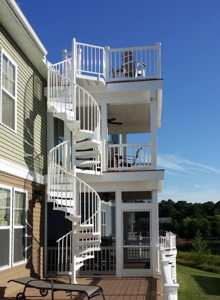 12 Breathtaking Deck Design Ideas Salter Spiral Stair