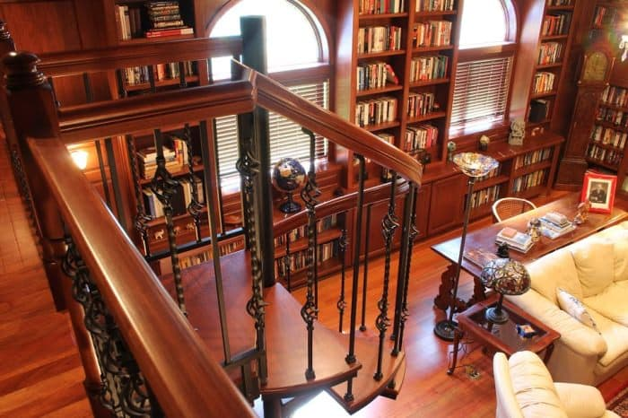 library-loft-spiral-stairs