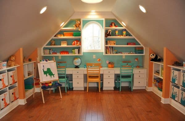 attic conversion rec room