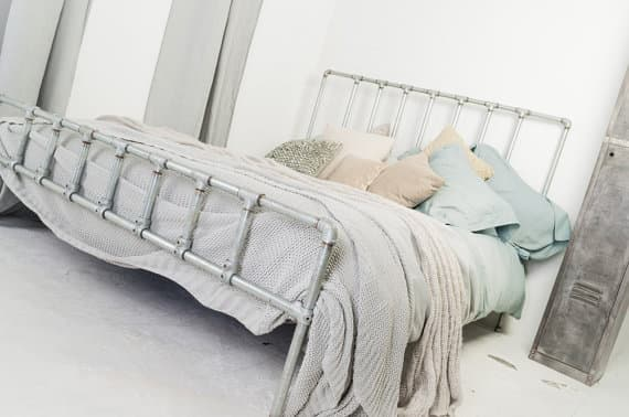 industrial loft furniture steel pipe bedframe