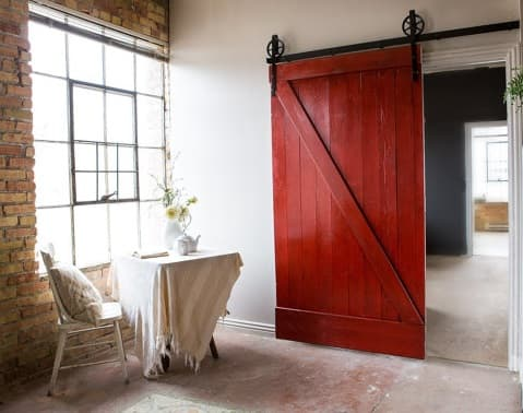 industrial loft furniture factory door