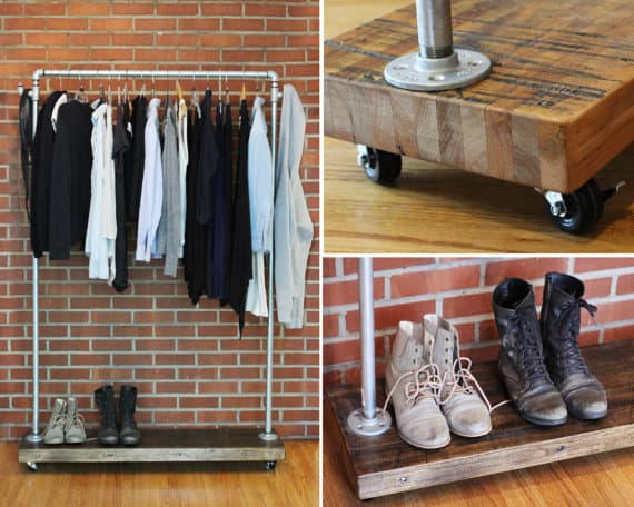 industrial loft furniture garment rack