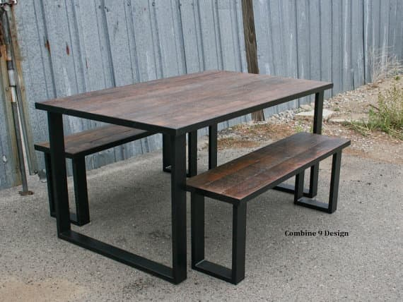industrial loft furniture dining table