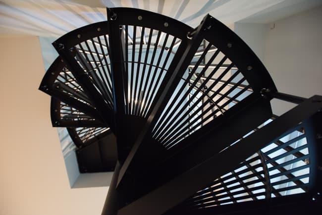 minimalist spiral stair