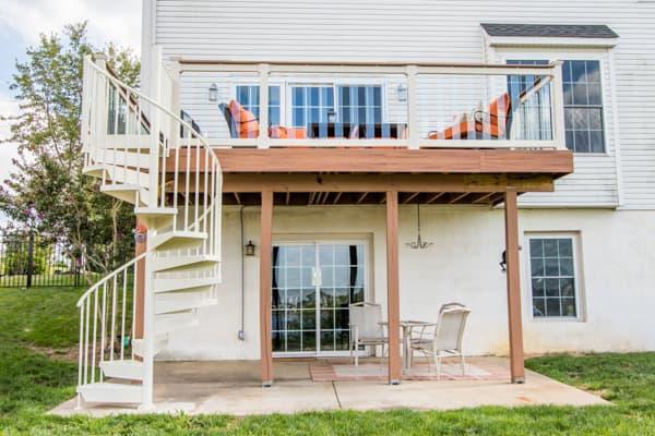 Raised Deck Stairs