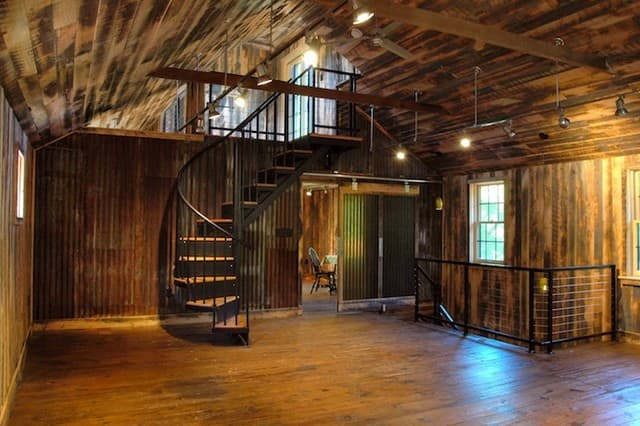 20 Unique Barndominium Designs Salter Spiral Stair