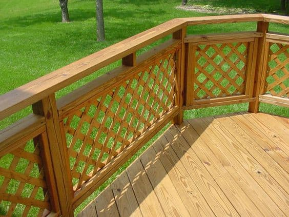 lattice panel deck railing