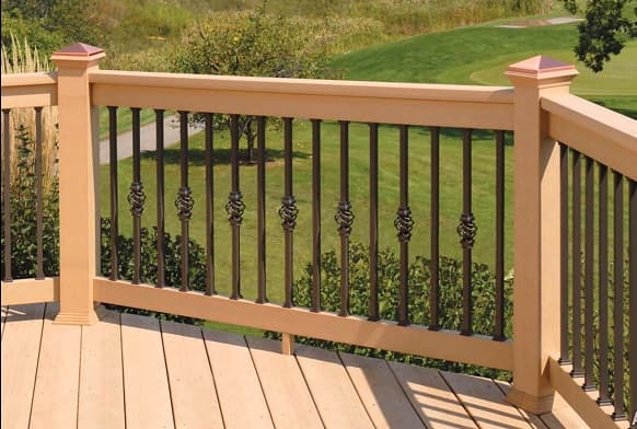 iron deck railing twist cage