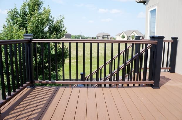 Types of deck railings Wood Deck Composite Deck Railing Salter Spiral Stair Types Of Decorative Deck Railings Salter Spiral Stair