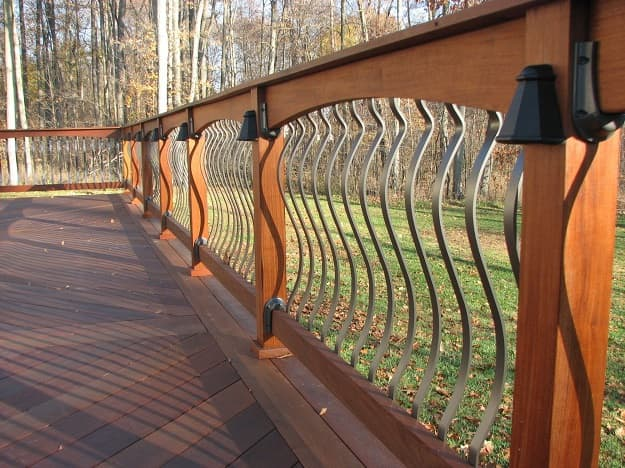Types of deck railings Spindles Arched Balusters Deck Railing Salter Spiral Stair Types Of Decorative Deck Railings Salter Spiral Stair