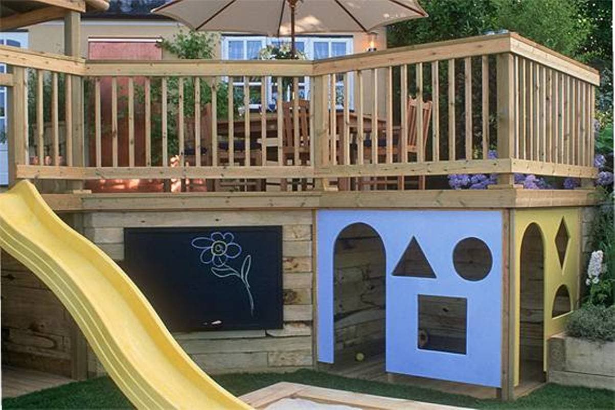 play area - Patio Under Deck
