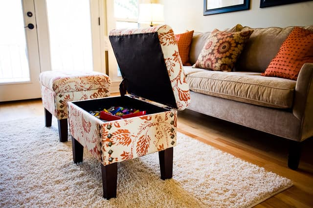 Optimized-storage ottoman
